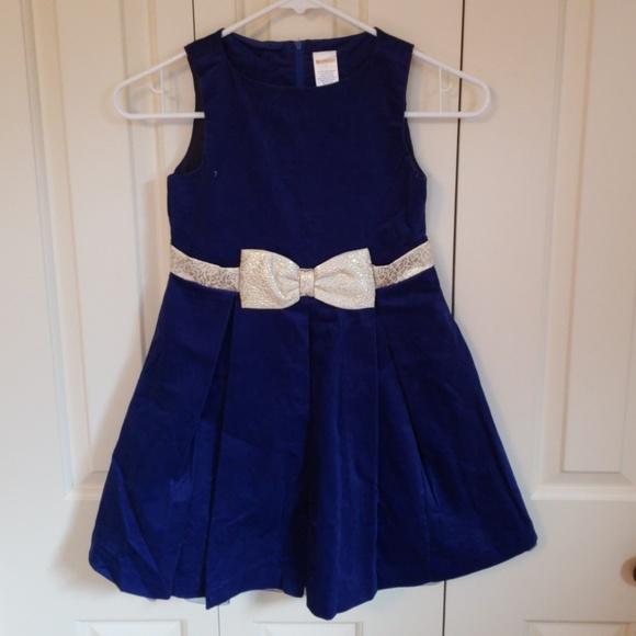 eb58f0269b60 Gymboree Dresses | Girls Royal Blue Velvet Holiday Dress | Poshmark